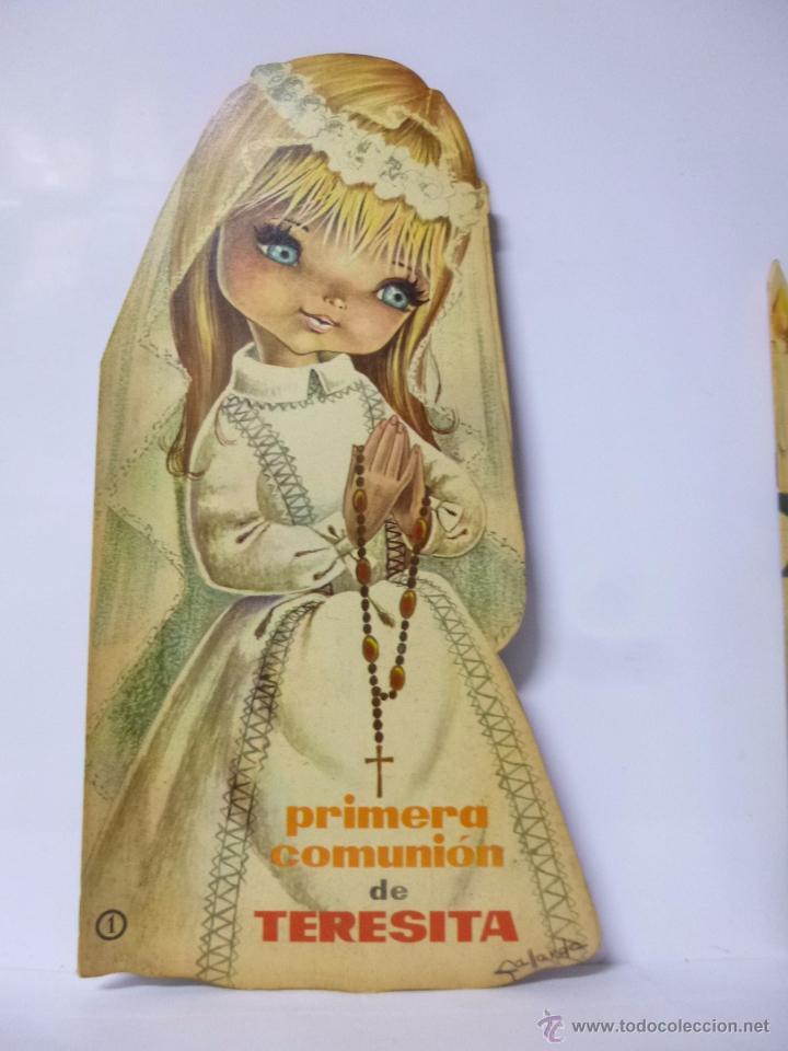 CUENTOS TROQUELADOS PRIMERA COMUNIÓN DE TERESITA , ED ROMA 1965, 33,5 CM ALTO (Libros Antiguos, Raros y Curiosos - Literatura Infantil y Juvenil - Cuentos)
