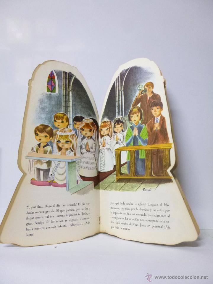 Libros antiguos: CUENTOS TROQUELADOS PRIMERA COMUNIÓN DE TERESITA , ED ROMA 1965, 33,5 CM ALTO - Foto 2 - 183203782