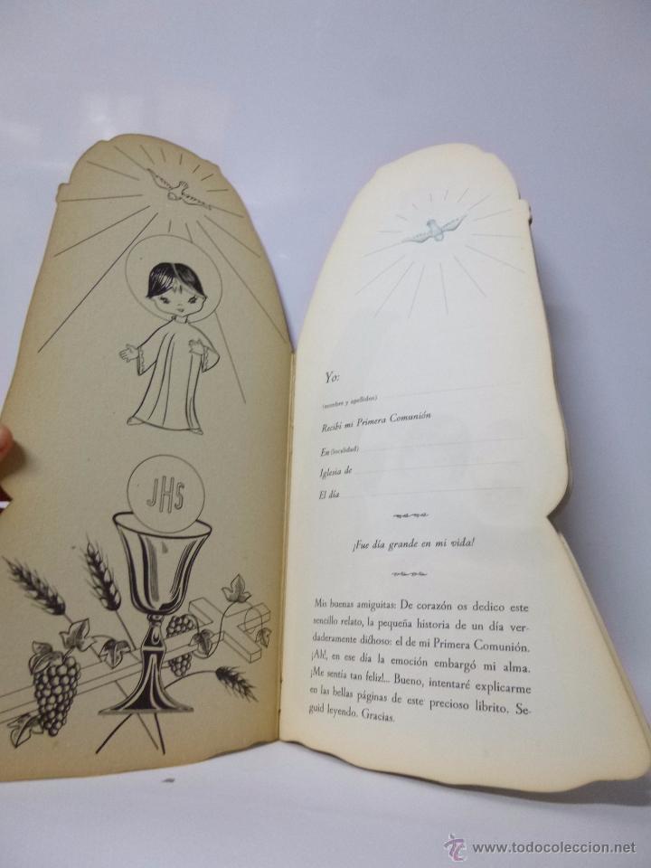 Libros antiguos: CUENTOS TROQUELADOS PRIMERA COMUNIÓN DE TERESITA , ED ROMA 1965, 33,5 CM ALTO - Foto 3 - 183203782