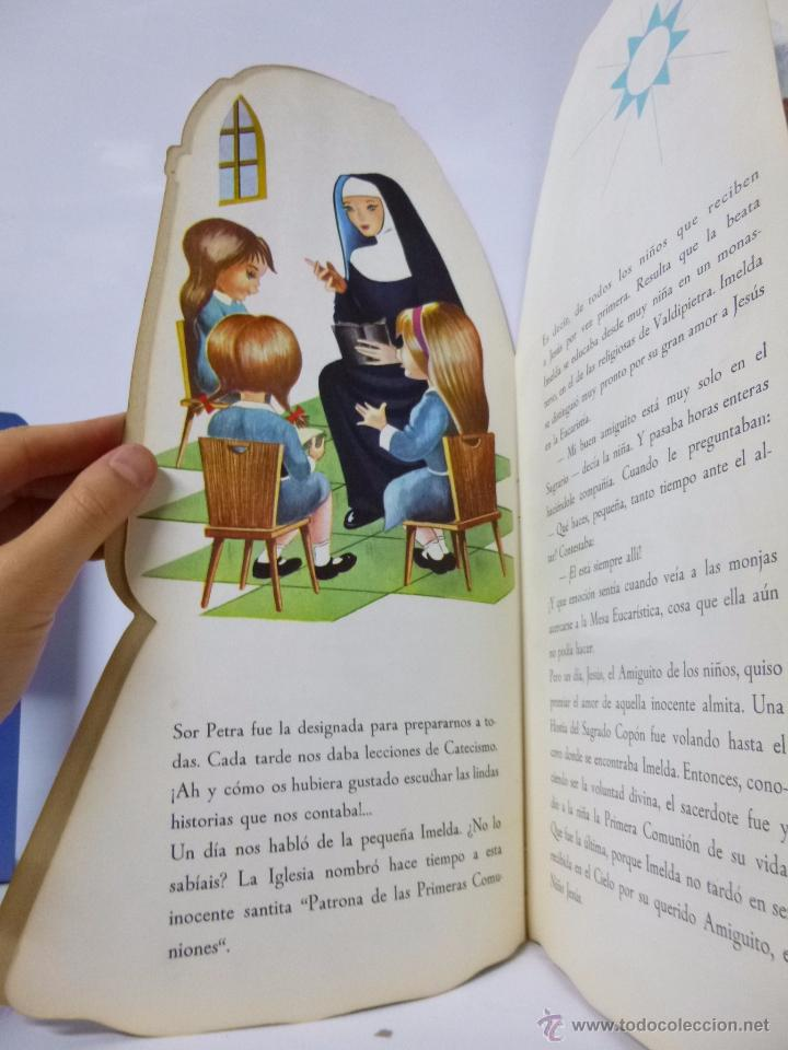 Libros antiguos: CUENTOS TROQUELADOS PRIMERA COMUNIÓN DE TERESITA , ED ROMA 1965, 33,5 CM ALTO - Foto 4 - 183203782