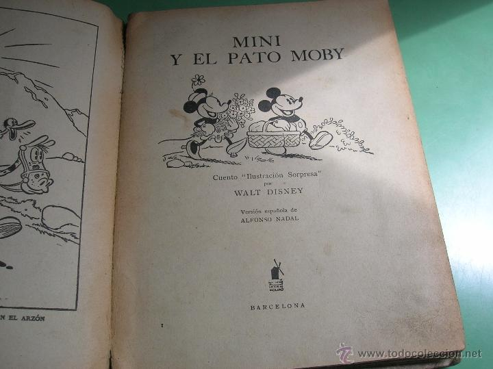 Libros antiguos: Cuento pop-up Mini y el pato Moby - Foto 4 - 50428350