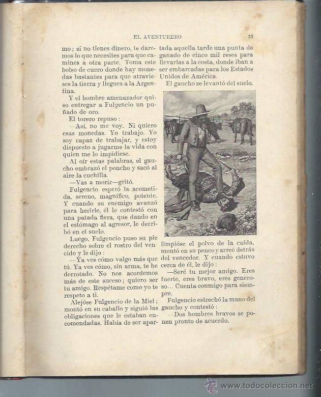 Libros antiguos: BIBLIOTECA PARA NIÑOS EL AVENTURERO, ORTEGA MUNILLA, RAMÓN SOPENA BARCELONA 1922, 55 PÁGS - Foto 2 - 50545527