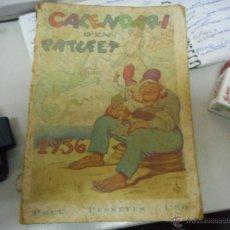 Libros antiguos: CALENDARIO PATUFET 1936. Lote 51105162