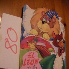Libros antiguos: ANTIGUO CUENTO INFANTIL - EL LEON Y LA ZORRA - ENVIO GRATIS A ESPAÑA. Lote 51745422