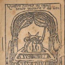 Libros antiguos: QUATRE HORES DE CAMI SENSE MOURE'S DE LLOC / M. FOLCH I TORRES. COL. EN PATUFET ,324. 12X8CM. 15 P. Lote 52310383