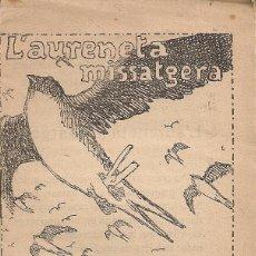 Libros antiguos: L'AURENETA MISSATGERA / M. FLOCH I TORRES. COL. EN PATUFET ,16. 12X8CM. 15 P. Lote 52310440
