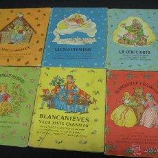 Libros antiguos - LOTE 6 CUENTOS ANTIGUOS - LA CASITA DE CHOCOLATE - LA CENICIENTA - BLANCANIEVES Y ROJAFLOR - - 52853520