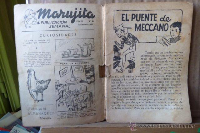 Libros antiguos: EL PUENTE DE MECCANO -COLECCION MARUJITA-N.98 - Foto 3 - 52968320
