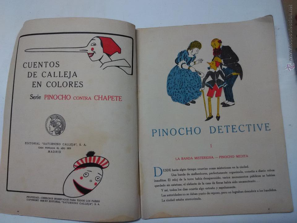 Libros antiguos: pinocho . cuento Calleja - Foto 4 - 53105756