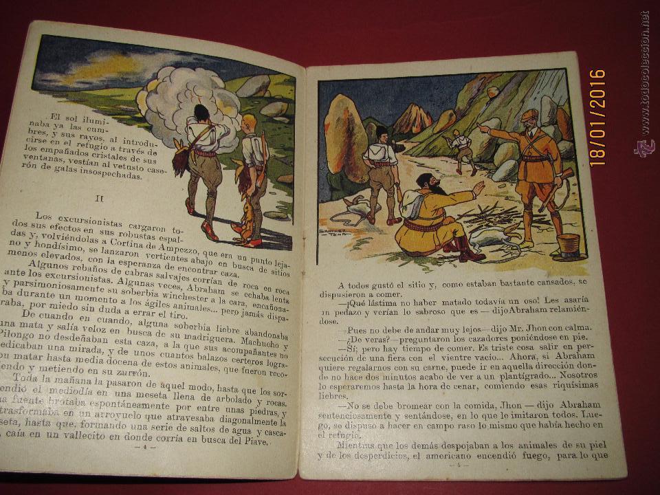 Libros antiguos: Cuento Aventuras de Machucho y Pilongo *MACHUCHO Y PILONGO CAZADORES* Nº 8 Ramón SOPENA 1920s. - Foto 2 - 53897038
