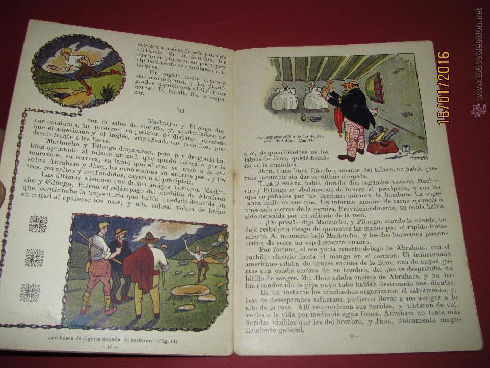 Libros antiguos: Cuento Aventuras de Machucho y Pilongo *MACHUCHO Y PILONGO CAZADORES* Nº 8 Ramón SOPENA 1920s. - Foto 3 - 53897038