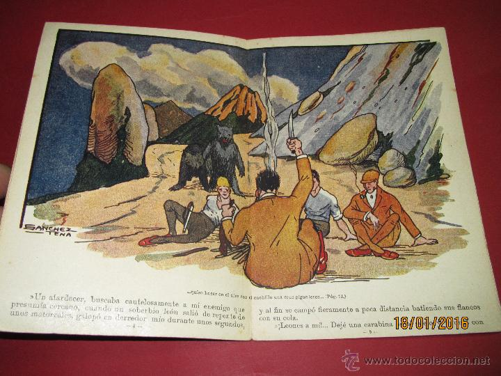 Libros antiguos: Cuento Aventuras de Machucho y Pilongo *MACHUCHO Y PILONGO CAZADORES* Nº 8 Ramón SOPENA 1920s. - Foto 5 - 53897038