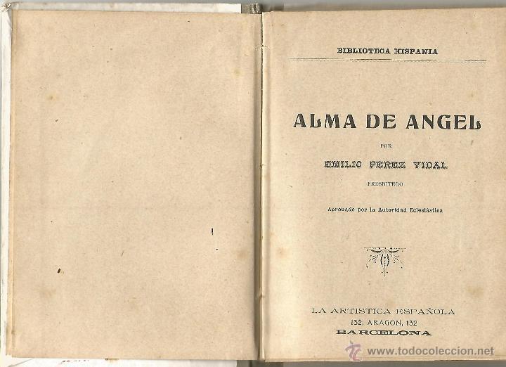 Libros antiguos: ANTIGUO CUENTO ALMA DE ANGEL BIBLIOTECA HISPANIA EMILIO PEREZ VIDAL LA ARTISTICA ESPAÑOLA AÑOS 20 MB - Foto 2 - 53992238