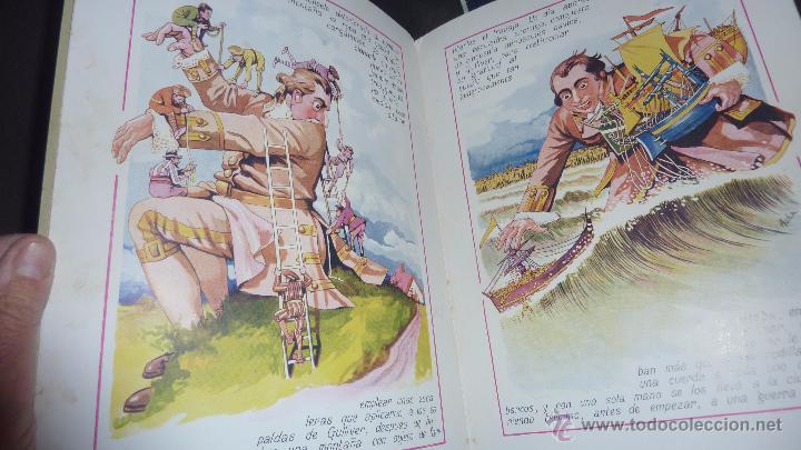 Libros antiguos: gulliver en el pais de los enanos . IX cuentos en colores ed sopena . dibujos asha - Foto 2 - 54016866