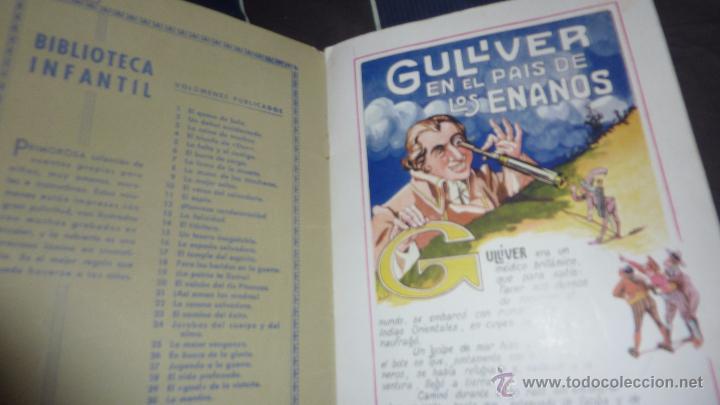 Libros antiguos: gulliver en el pais de los enanos . IX cuentos en colores ed sopena . dibujos asha - Foto 3 - 54016866