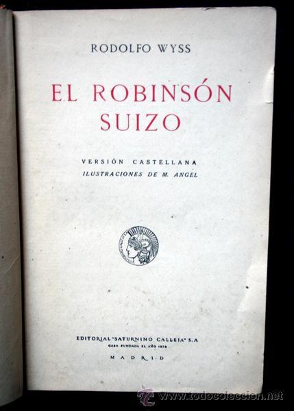 Libros antiguos: ROBINSON SUIZO - CALLEJA - Penagos - 1920 - Foto 2 - 79628897