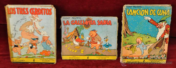 LOTE DE 3 CUENTOS DE LA EDITORIAL MOLINO (WALT DISNEY) (Libros Antiguos, Raros y Curiosos - Literatura Infantil y Juvenil - Cuentos)