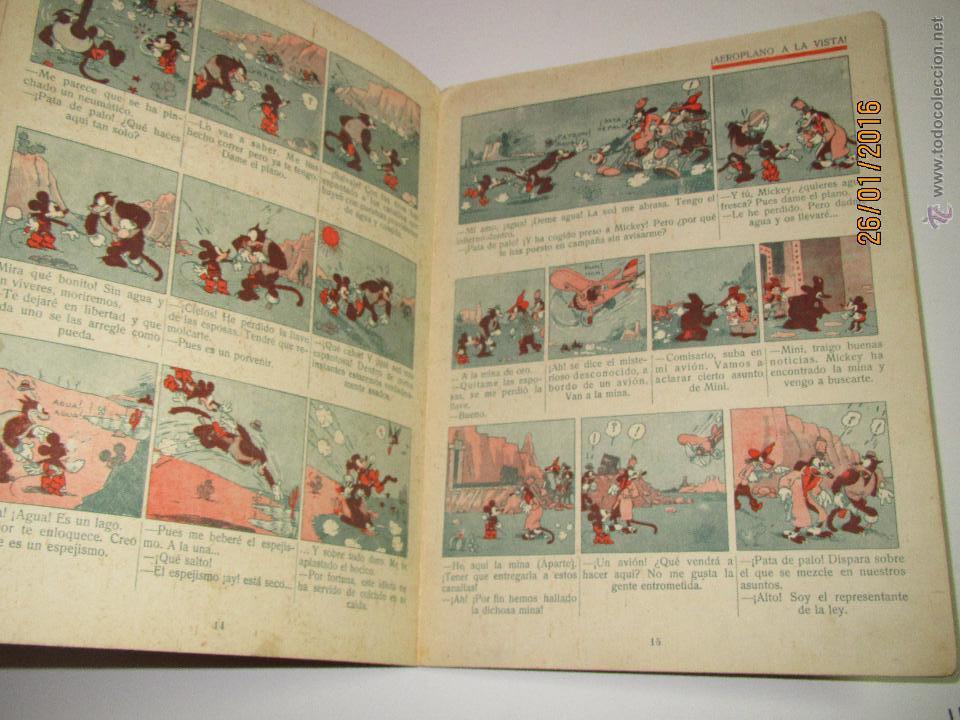 Libros antiguos: Antiguo *MICKEY en el Valle Infernal* Ilustr. Walt Disney y Edit. Saturnino Calleja del Año 1934 - Foto 4 - 54071385
