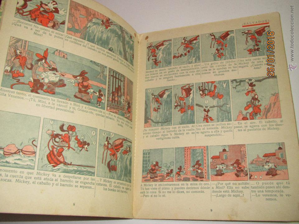 Libros antiguos: Antiguo *MICKEY en el Valle Infernal* Ilustr. Walt Disney y Edit. Saturnino Calleja del Año 1934 - Foto 5 - 54071385