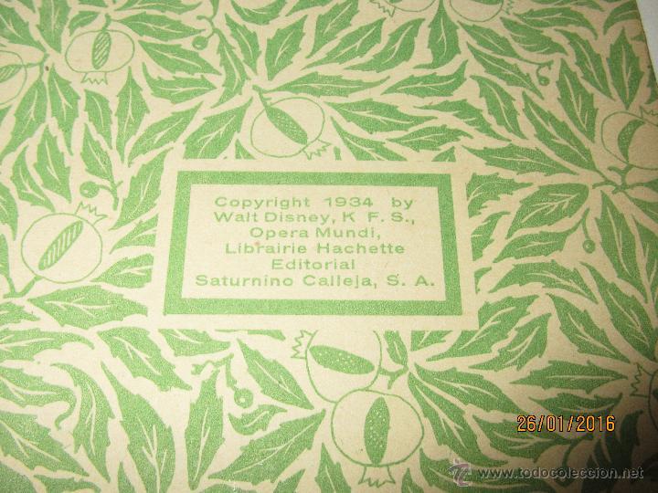 Libros antiguos: Antiguo *MICKEY en el Valle Infernal* Ilustr. Walt Disney y Edit. Saturnino Calleja del Año 1934 - Foto 6 - 54071385