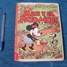 Libri antichi: CUENTO MINI Y EL PATO MOBY EN RELIEVE. WALT DISNEY. EDITORIAL MOLINO. ILUSTRACION SORPRESA POP 1934. Lote 54295122