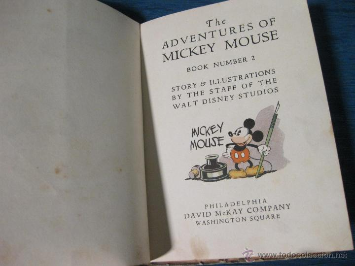 Libros antiguos: THE ADVENTURES OF MICKEY MOUSE. BOOK NUMBER 2. DAVID MACKAY COMPANY. WALT DISNEY 1932 - Foto 3 - 54295183