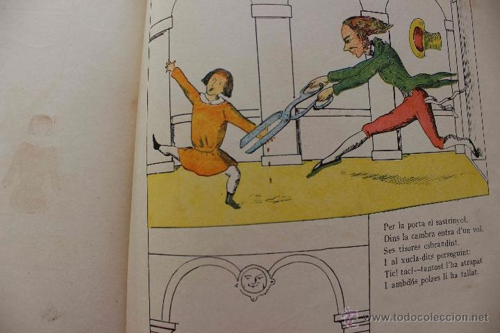 Libros antiguos: En Perot l'escabellat. Der Struwwelpeter.Heinrich Hoffmann. Primera edició, 1913. Català - Foto 5 - 54512390