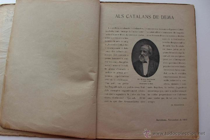 Libros antiguos: En Perot l'escabellat. Der Struwwelpeter.Heinrich Hoffmann. Primera edició, 1913. Català - Foto 9 - 54512390