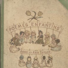 Libros antiguos - Jane y Ann Taylor. Poèmes Enfantins. París, 1883. - 54570751