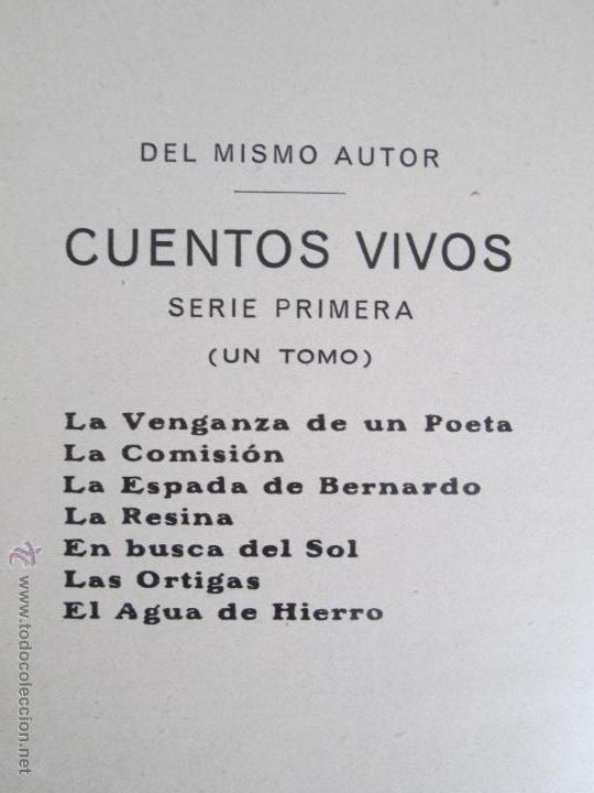 Libros antiguos: DOS LIBROS: CUENTOS VIVOS. APELES MESTRES. SERIE PRIMERA Y SEGUNDA. 1929 Y 1931. VER FOTOGRAFIAS - Foto 25 - 54947157