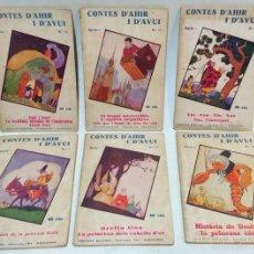 Libros antiguos: CONTES D'AHIR I D'AVUI. 6 NUMEROS SERIE 1, AÑOS 30. EDICIONS MENTORA, VER.. Lote 55093537