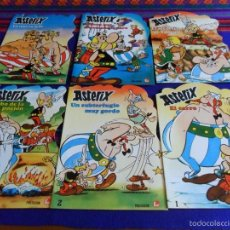 Libros antiguos: ASTERIX 1 2 3 4 5 6 COMPLETA FHER 1981 CARRO SUBTERFUGIO ROBO POCIÓN SECUESTRO FANZINE PESCADO CARO. Lote 100199159