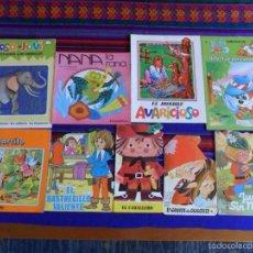 Libros antiguos: LOTE 9 CUENTOS INFANTILES TROQUELADOS. ENTRA Y MIRA. RAROS.. Lote 56041649