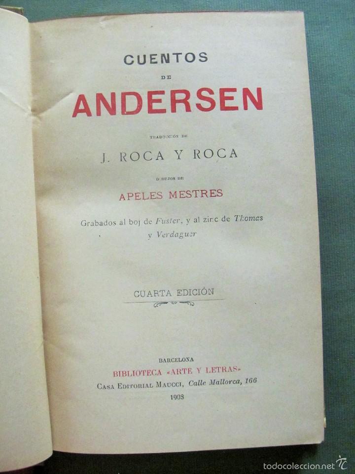 Libros antiguos: CUENTOS DE ANDERSEN año 1908 - Foto 2 - 56154164