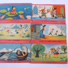 Libros antiguos: LOTE DE 6 MINI CUENTOS DE LA COLECCIÓN TIROL, EDICIONES GAISA 1960, 11,7X6,7 CM . Lote 56168000