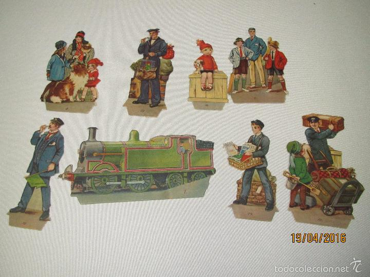 Libros antiguos: Antiguo Cuento con Imágenes Litografiadas Moviles y Desplegables EXPRES TRAIN PANORAMA Año 1920-30s - Foto 2 - 156386472
