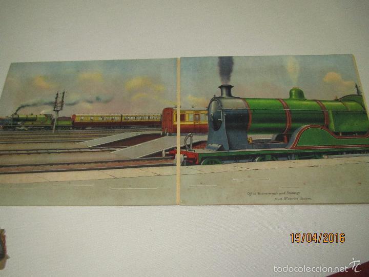Libros antiguos: Antiguo Cuento con Imágenes Litografiadas Moviles y Desplegables EXPRES TRAIN PANORAMA Año 1920-30s - Foto 5 - 156386472