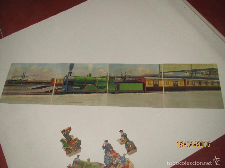 Libros antiguos: Antiguo Cuento con Imágenes Litografiadas Moviles y Desplegables EXPRES TRAIN PANORAMA Año 1920-30s - Foto 6 - 156386472