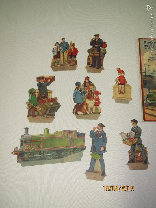 Libros antiguos: Antiguo Cuento con Imágenes Litografiadas Moviles y Desplegables EXPRES TRAIN PANORAMA Año 1920-30s - Foto 7 - 156386472