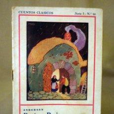 Libros antiguos: CUENTOS CLASICOS, EDITORIAL JUVENTUD, SERIE 1, Nº 10, HERMANOS GRIMM, FALLO EN PORTADA. Lote 56408185