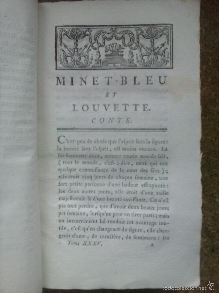 Libros antiguos: Cuentos de hadas siglo XVIII. Le cabinet des fées ou Collection choisie des contes (1786) ¡¡Bonito!! - Foto 9 - 78469961