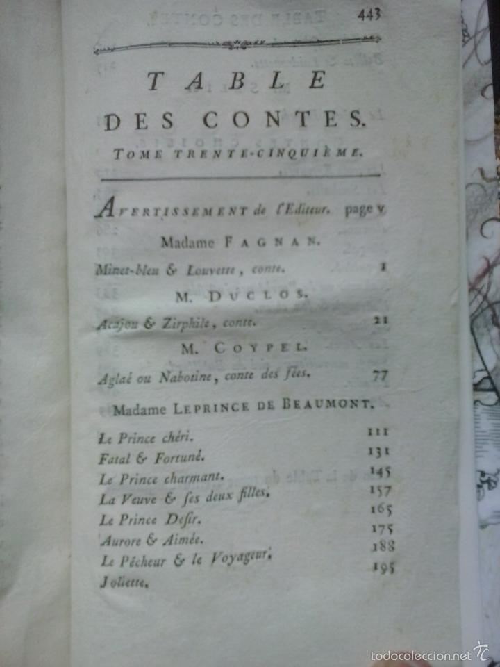 Libros antiguos: Cuentos de hadas siglo XVIII. Le cabinet des fées ou Collection choisie des contes (1786) ¡¡Bonito!! - Foto 12 - 78469961
