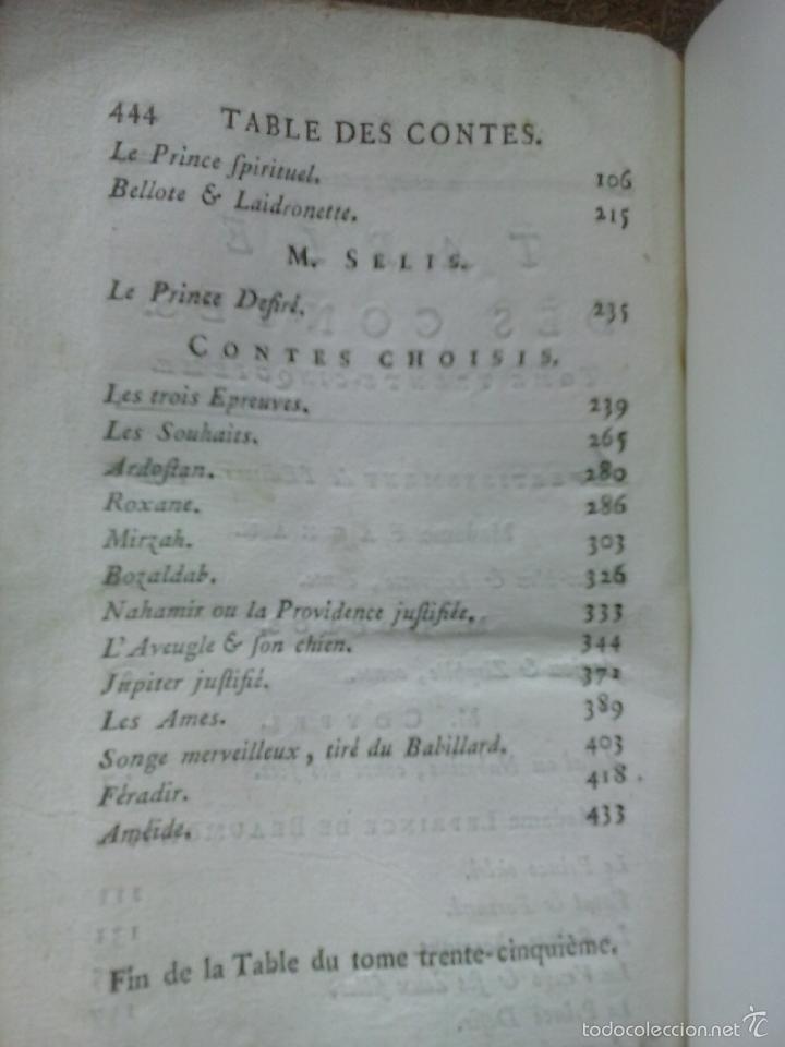 Libros antiguos: Cuentos de hadas siglo XVIII. Le cabinet des fées ou Collection choisie des contes (1786) ¡¡Bonito!! - Foto 13 - 78469961