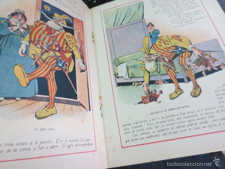 Libros antiguos: CUENTO DE PERRAULT CUENTOS EN COLORES I PULGARCITO EDIT RAMON SOPENA AÑOS 30 - Foto 4 - 56715826