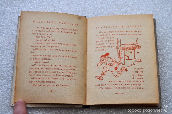 Libros antiguos: EL CAÇADOR DE LLEBRES. RONDALLES POPULARS RECOLLIDES PER VALERI SERRA I BOLDU. VOLUM. XVII. ANY 1933 - Foto 3 - 56731560
