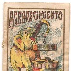 Libros antiguos: AGRADECIMIENTO. BIBLIOTECA INFANTIL. CUENTO MORAL. Lote 56847035