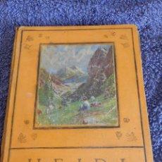 Libros antiguos: HEIDI - EDICION LUJO - PRIMERA IMPRESION EN ESPAÑA - JUVENTUD, 1927. Lote 57243000