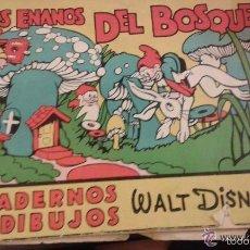 Libros antiguos: LOS ENANOS DEL BOSQUE. CUADERNOS DE DIBUJOS. WALT DISNEY EDITORIAL MOLINO Nº2. Lote 57616966