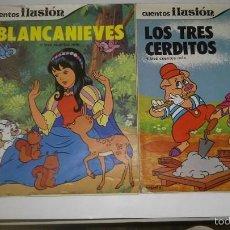 Libros antiguos: 2 CUENTOS, LOS TRES CERDITOS Y BLANCA NIEVES, LOS DOS CON 3 CUENTOS MAS,1981 Y 1985. Lote 57705350