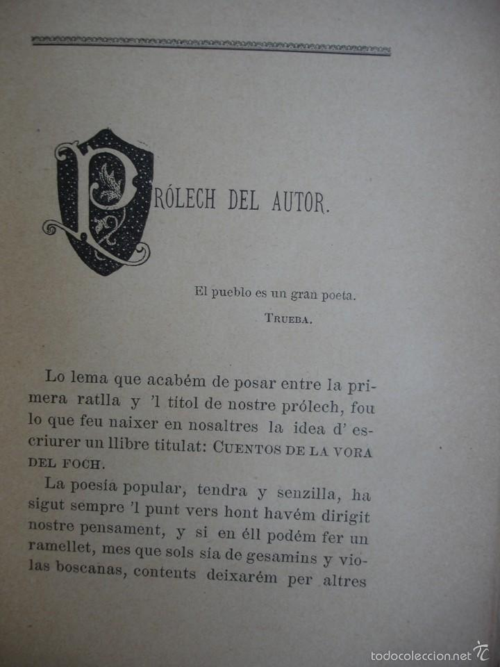 Libros antiguos: Cuentos de la Vora del Foch. Serafí pitarra - Foto 3 - 57775689